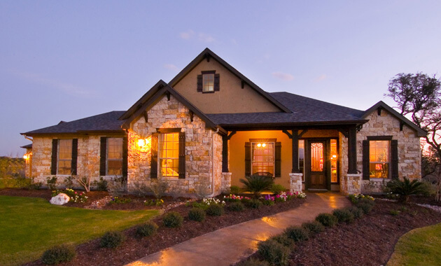 Build On Your Lot Model Home in Gruene Haven