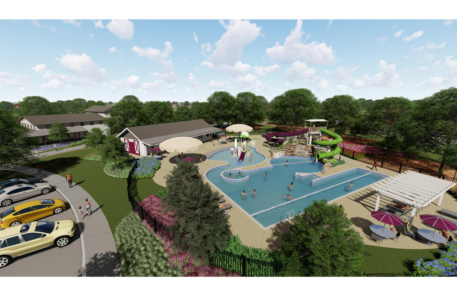 Community Pool Rendering